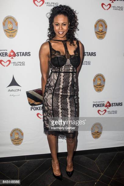 Actor Vinessa Antoine arrives at 3rd Annual Los Angeles Police Memorial Foundation Celebrity Poker Tournament And Casino Night Party at Avalon on...
