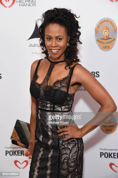 Actor Vinessa Antoine at the Heroes for Heroes Los Angeles Police Memorial Foundation Celebrity Poker Tournament at Avalon on September 10 2017 in...