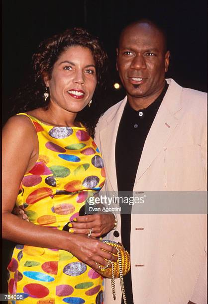 Actor Ving Rhames and his wife Valerie attend the premiere of Striptease at the Ziegfeld Theater June 23 1996 in New York City The film directed by...