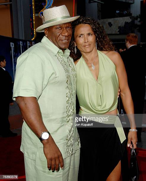 Actor Ving Rhames and wife Deborah arrive at the I Now Pronounce You Chuck and Larry premiere at the Gibson Amphitheatre and CityWalk Cinemas on July...
