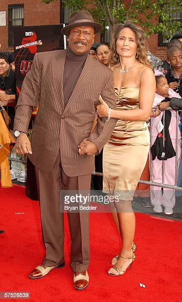Actor Ving Rhames and wife Deborah Reed attend the Mission Impossible III premiere in Harlem hosted by BET at the Magic Johnson Theatres on May 3...