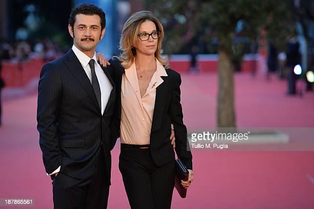 Actor Vinicio Marchioni and his wife Milena Mancini attend 'Il Sud E Niente' Premiere during The 8th Rome Film Festival at Auditorium Parco Della...