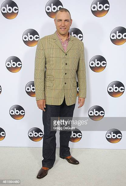 Actor Vinnie Jones arrives at Disney ABC Television Group's TCA Winter Press Tour on January 14 2015 in Pasadena California