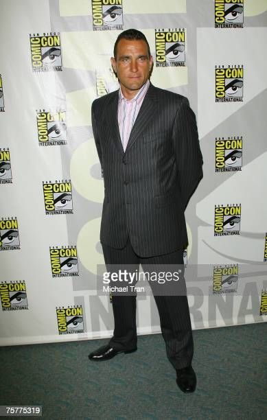 Actor Vinnie Jones arrives to the Lionsgate press panel at Comic-Con at the San Diego Convention Center on July 26, 2007 in San Diego, California.
