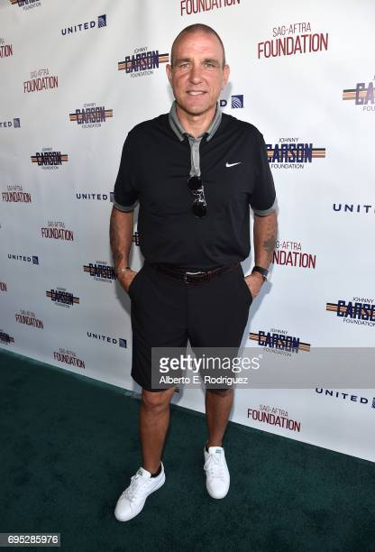 Actor Vinnie Jones attends the SAGAFTRA Foundation 8th Annual LA Golf Classic Fundraiser at Lakeside Golf Club on June 12 2017 in Los Angeles...