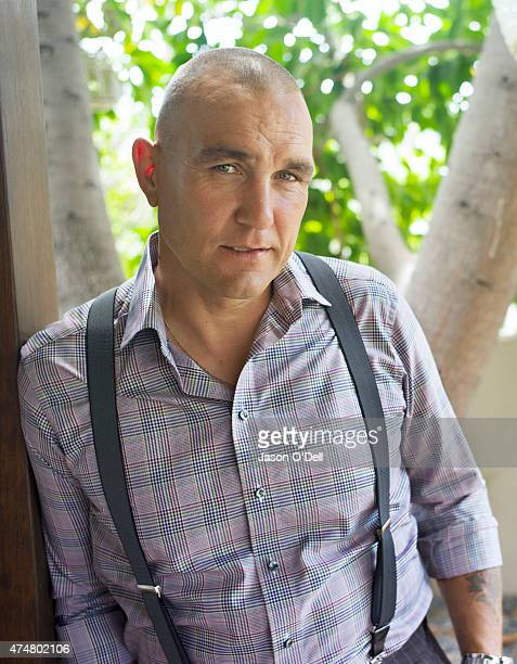 Actor Vinnie Jones model is photographed for a skin and beauty story for Elle Girl on January 1 2004 in New York New York