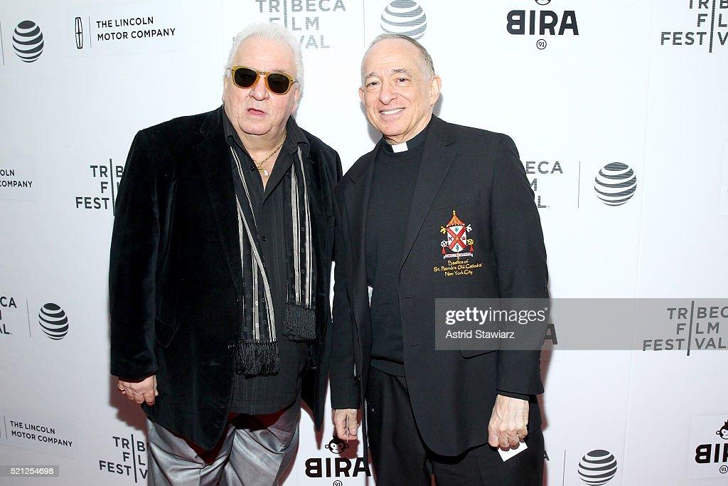 Actor Vinny Vella (L) attends the 2016 Tribeca Film Festival Shorts: New York Then at Regal Battery Park Cinemas on April 14, 2016 in New York City.