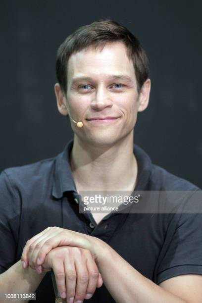 Actor Vinzenz Kiefer playing the role of Siegfried poses on stage after a rehearsal for the media of the Nibelung Saga as part of the forthcoming...