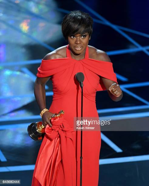 Actor Viola Davis accepts Best Supporting Actress for 'Fences' onstage during the 89th Annual Academy Awards at Hollywood & Highland Center on...