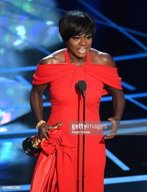Actor Viola Davis accepts Best Supporting Actress for 'Fences' onstage during the 89th Annual Academy Awards at Hollywood Highland Center on February...