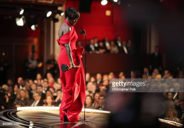 Actor Viola Davis accepts the Best Supporting Actress award for 'Fences' onstage during the 89th Annual Academy Awards at Hollywood Highland Center...