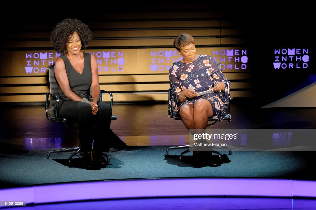 Actor Viola Davis and journalist Joy-Ann Reid speak onstage during the 2018 Women In The World Summit at Lincoln Center on April 12, 2018 in New York City.