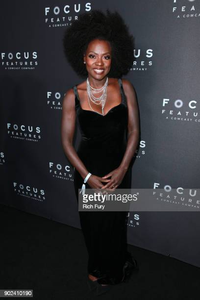 Actor Viola Davis attends Focus Features Golden Globe Awards After Party on January 7 2018 in Beverly Hills California