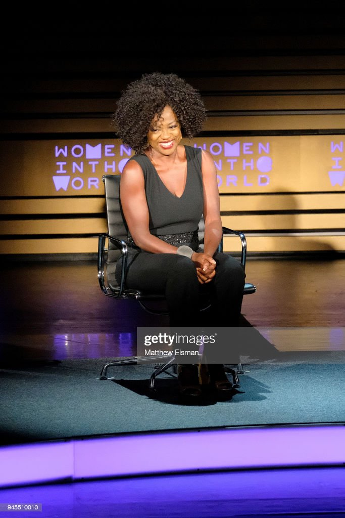 Actor Viola Davis attends the 2018 Women In The World Summit at Lincoln Center on April 12, 2018 in New York City.