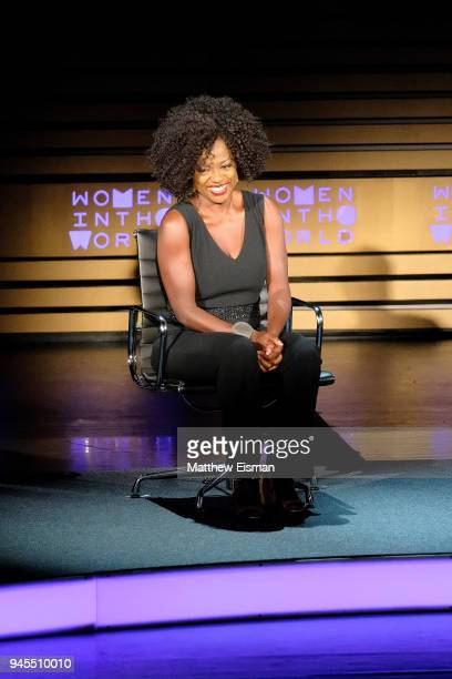 Actor Viola Davis attends the 2018 Women In The World Summit at Lincoln Center on April 12 2018 in New York City