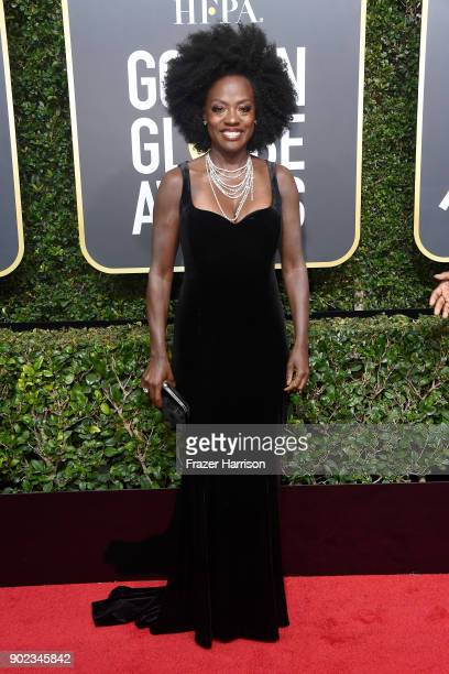 Actor Viola Davis attends The 75th Annual Golden Globe Awards at The Beverly Hilton Hotel on January 7 2018 in Beverly Hills California