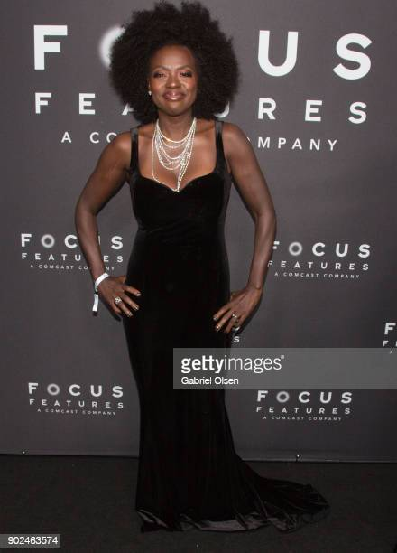 Actor Viola Davis attends the Focus Features Golden Globe Awards After Party on January 7 2018 in Beverly Hills California