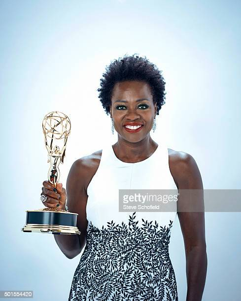 Actor Viola Davis is photographed for Emmy magazine on September 20 2015 in Los Angeles California