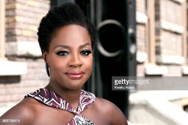 Actor Viola Davis is photographed for Essence Magazine on October 1 2016 in Los Angeles California