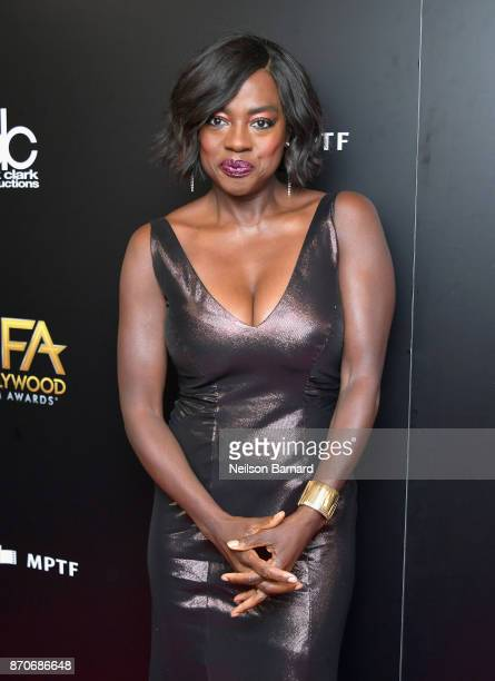 Actor Viola Davis poses in the press room during the 21st Annual Hollywood Film Awards at The Beverly Hilton Hotel on November 5 2017 in Beverly...
