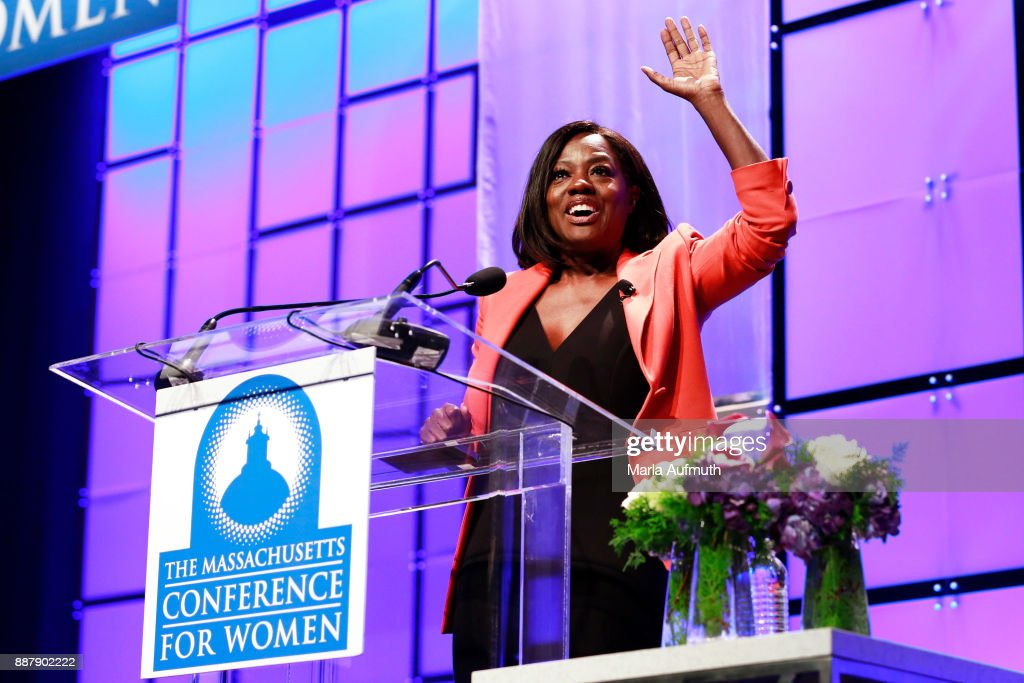 Actor Viola Davis speaks during the Massachusetts Conference for Women 2017 at the Boston Convention Center on December 7, 2017 in Boston, Massachusetts.