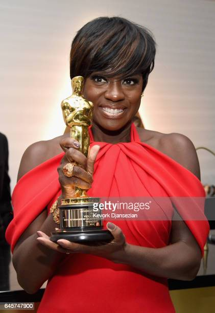 Actor Viola Davis winner of the award for Actress in a Leading Role for 'Fences' attends the 89th Annual Academy Awards Governors Ball at Hollywood...