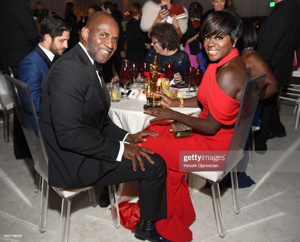 Actor Viola Davis (R), winner of the award for Actress in a Supporting Role for 'Fences,' and actor Julius Tennon attend the 89th Annual Academy Awards Governors Ball at Hollywood & Highland Center on February 26, 2017 in Hollywood, California.