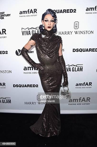 Actor Violet Chachki attends amfAR's Inspiration Gala Los Angeles at Milk Studios on October 29 2015 in Hollywood California