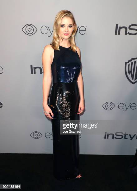 Actor Virginia Gardner attends the 2018 InStyle and Warner Bros 75th Annual Golden Globe Awards PostParty at The Beverly Hilton Hotel on January 7...