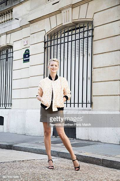 Actor Virginie Efira is photographed for Paris Match on September 1 2016 in Paris France