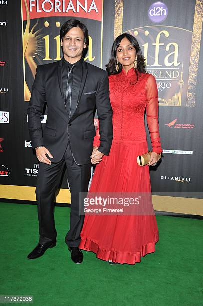 Actor Vivek Oberoi attends the MAC Cosmetics Sponsored IIFAS Awards Presentation at the Rogers Centre on June 25 2011 in Toronto Canada