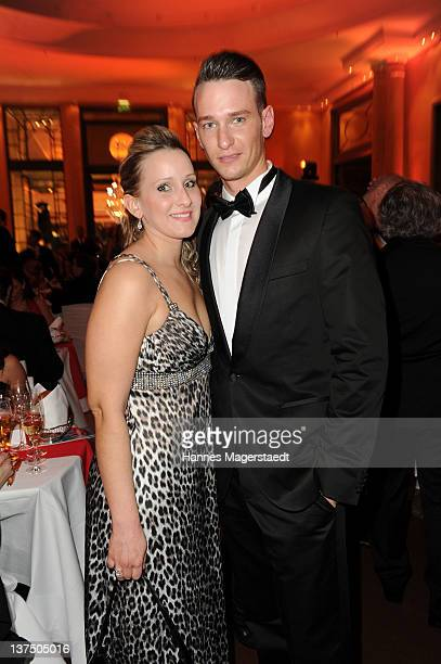 Actor Vladimir Burlakov and his sister Marina Burlakova attend the German Filmball at the Hotel Bayerischer Hof on January 21 2012 in Munich Germany