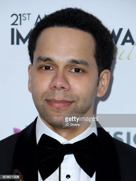 Actor Vladimir Caamano attends the 21st Annual National Hispanic Media Coalition Impact Awards Gala at Regent Beverly Wilshire Hotel on February 23...