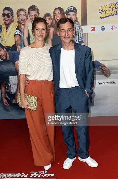 Actor Volker Bruch and his girlfriend Miriam Stein attend the 'Fack ju Goehte 2' Munich Premiere at Mathaeser Filmpalast on September 7, 2015 in...