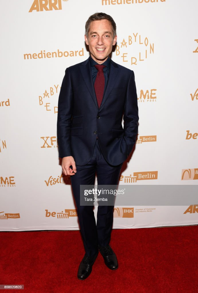 Actor Volker Bruch attends the premiere of Beta Film's 'Babylon Berlin' at The Theatre at Ace Hotel on October 6, 2017 in Los Angeles, California.