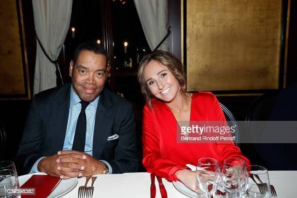 Actor Volney McFarlin and guest attend 'Ryder Cup Dinner' at Fouquet's Barriere on September 24 2018 in Paris France