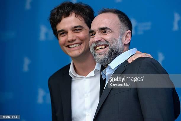 Actor Wagner Moura and director Karim Ainouz attend the 'Praia do futuro' photocall during 64th Berlinale International Film Festival at Grand Hyatt...