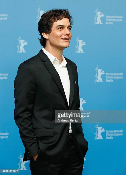 Actor Wagner Moura attends the 'Praia do futuro' photocall during 64th Berlinale International Film Festival at Grand Hyatt Hotel on February 11 2014...