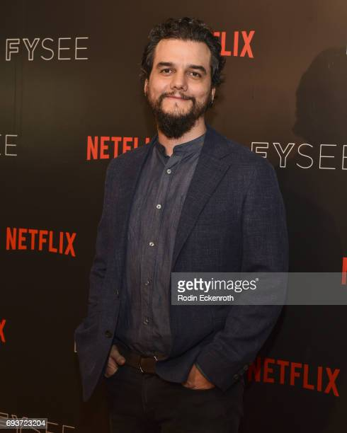 Actor Wagner Moura attends the premiere of Netflix's Narcos FYC Event at Netflix FYSee Space on June 7 2017 in Beverly Hills California