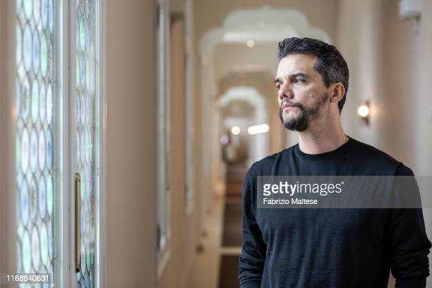 Actor Wagner Moura poses for a portrait on September 2, 2019 in Venice, Italy.