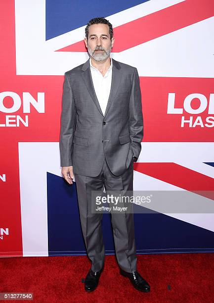 Actor Waleed Zuaiter attends the premiere of Focus Features' 'London Has Fallen' held at ArcLight Cinemas Cinerama Dome on March 1 2016 in Hollywood...