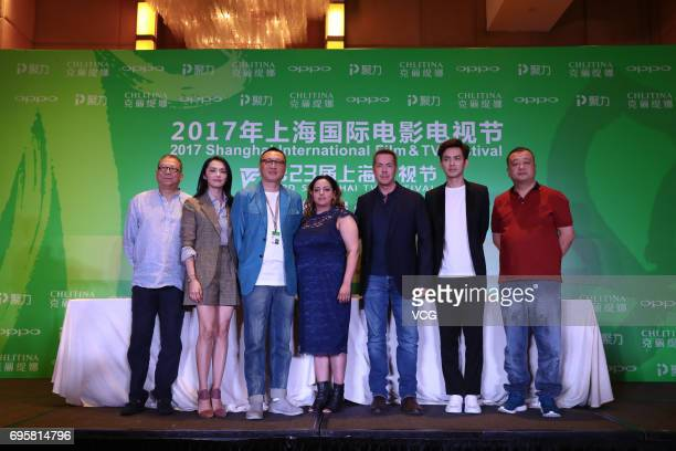 Actor Wallace Chung and actress Yao Chen attend the jury press conference of the 23rd Shanghai TV Festival at Jiaomao Tower on June 14 2017 in...