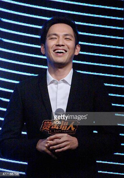 Actor Wallace Chung attends booting ceremony for film 'Bounty Hunters' on June 14 2015 in Shanghai China