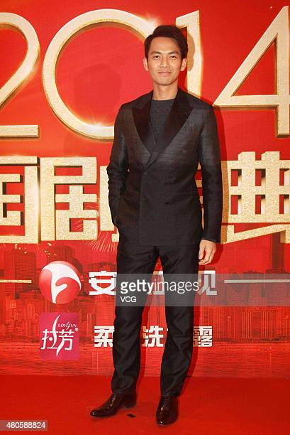 Actor Wallace Chung attends the '2014 TV Drama Awards' ceremony red carpet recording at the Beijing Convention Center on December 17 2014 in Beijing...