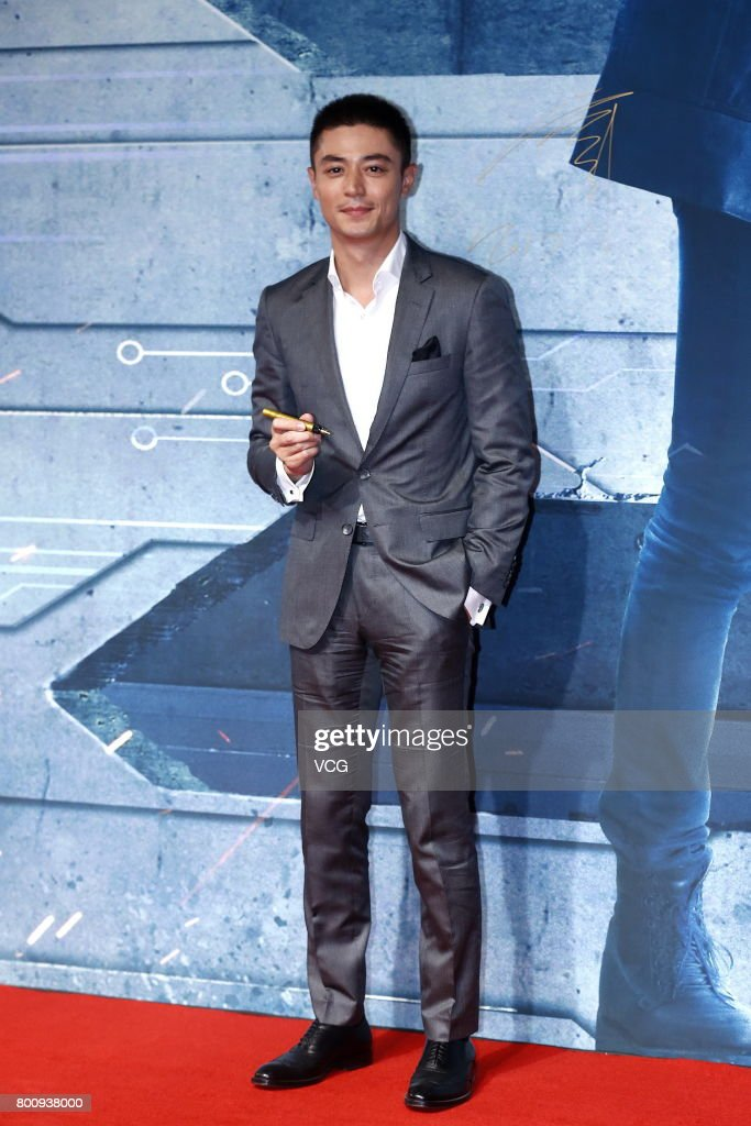 Actor Wallace Huo Chien-hwa attends the premiere of South Korean director Chang Yoon Hong-seung's film 'Reset' on June 25, 2017 in Beijing, China.