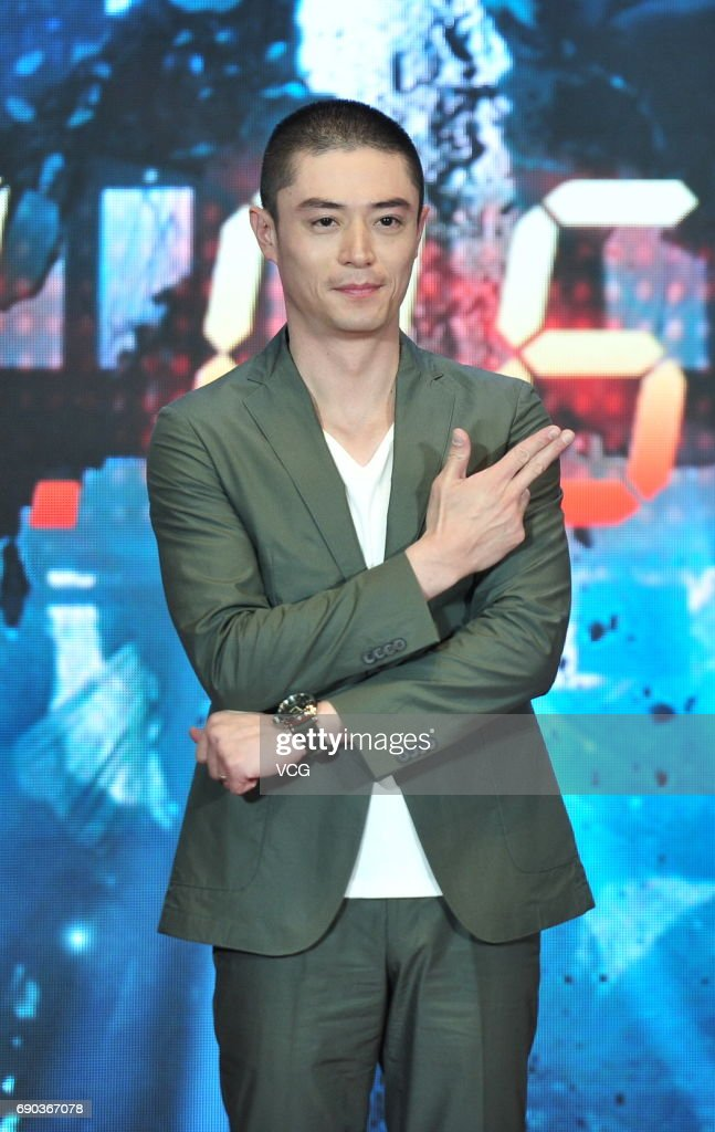 Actor Wallace Huo Chien-hwa attends the press conference of director Chang Yoon Hong-seung's film 'Reset' on May 30, 2017 in Beijing, China.
