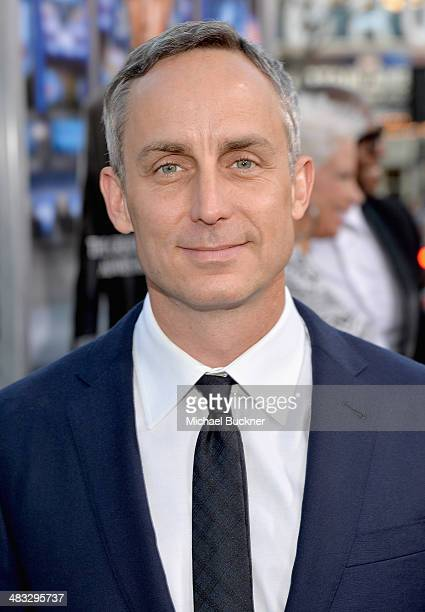 """Actor Wallace Langham attends Premiere Of Summit Entertainment's """"Draft Day"""" at Regency Bruin Theatre on April 7, 2014 in Los Angeles, California."""
