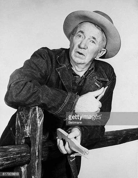 Actor Walter Brennan in costume for television series The Real McCoys