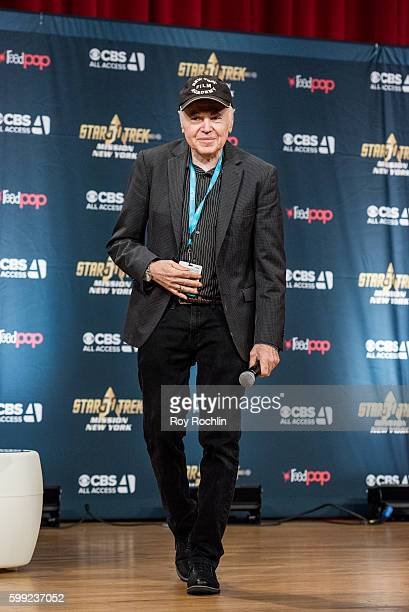 """Actor Walter Koenig on the main stage during """"Star Trek: Mission New York"""" day 3 at Javits Center on September 4, 2016 in New York City."""
