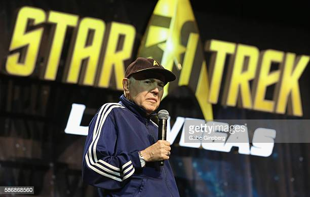 Actor Walter Koenig speaks during the 15th annual official Star Trek convention at the Rio Hotel Casino on August 6 2016 in Las Vegas Nevada